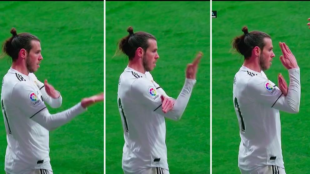 El corte de mangas de Gareth Bale en el Metropolitano.