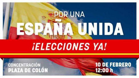 """Cartel de la manifestación """"Por una España Unida"""""""
