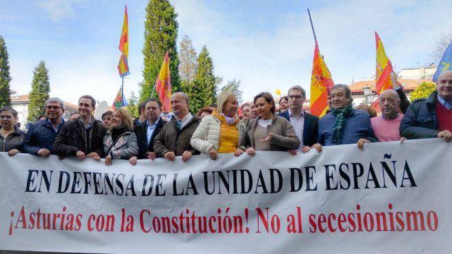 Oviedo reúne a centenares de personas en una manifestación reivindicativa de la unidad de España