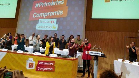 Mónica Oltra en las primarias de Compromís. Foto: Europa Press