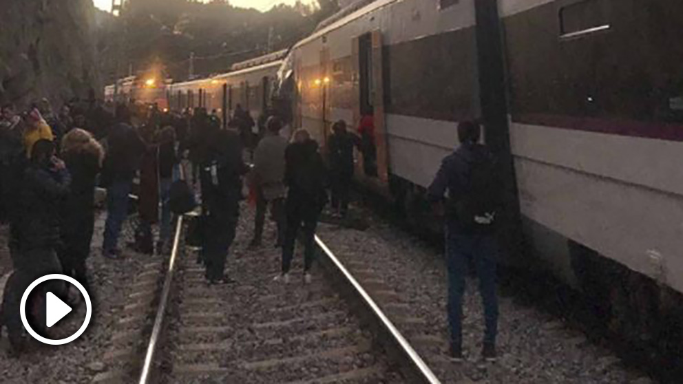 Accidente de tren en la línea 4 de Rodalíes.