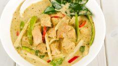 Receta de curry verde de pollo