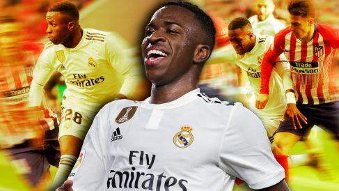 Vinicius está 'on-fire' con el Real Madrid.