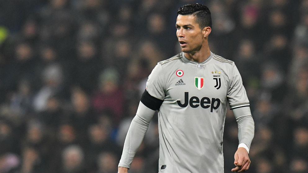 Cristiano Ronaldo, en el partido contra el Sassuolo. (Getty)