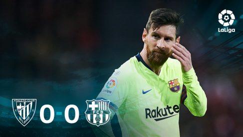 Messi no pudo obrar un milagro en San Mamés.