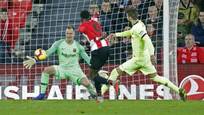 Ter Stegen hizo de 'Messi' para evitar la derrota del Barça