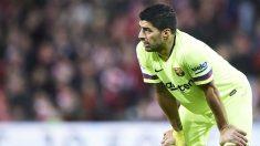 Luis Suárez, en el partido contra el Athletic.  (Getty)