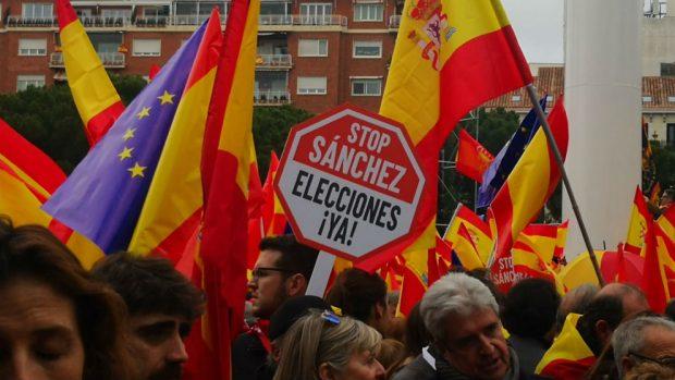 Lee aquí el manifiesto por la unidad de España de la manifestación en Colón