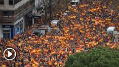 Una vista de la manifestación de Madrid en defensa de la unidad de España