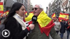 OKDIARIO en la manifestación de Madrid por la unidad de España
