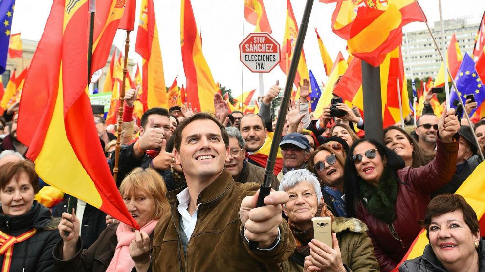 Albert Rivera en la manifestación de Madrid