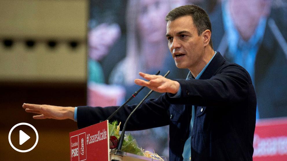 Pedro Sánchez este domingo en Santander (Foto: EFE).