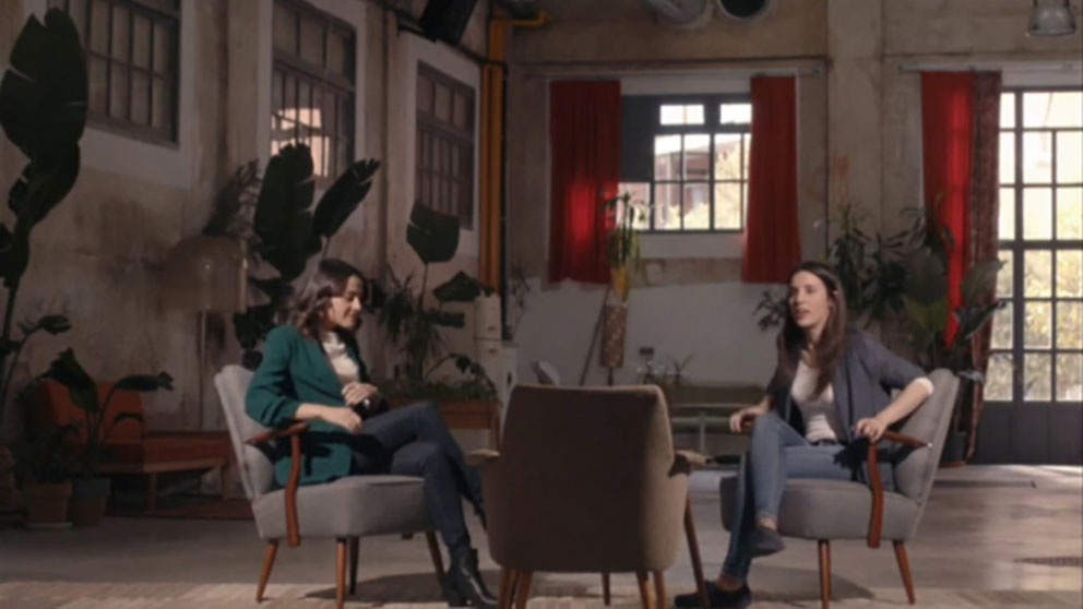 Inés Arrimadas e Irene Montero, en el programa de Jordi Évole.