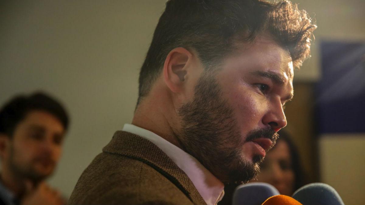 Gabriel Rufián este lunes en el Congreso (EP).
