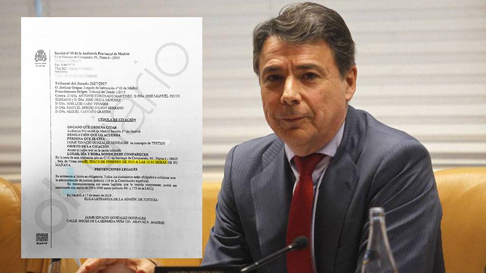 Ignacio González y su citación judicial.