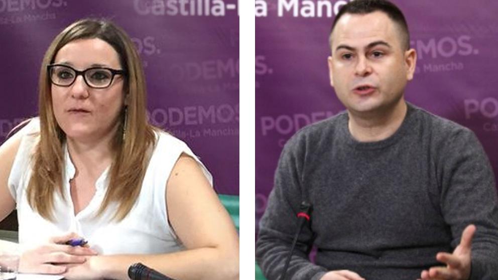 María Díaz y David Llorente, diputados de Podemos en Castilla-La Mancha
