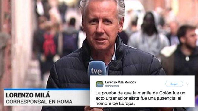 """Un periodista icono de la TVE de Mateo tilda de """"ultranacionalista"""" la manifestación de Colón"""