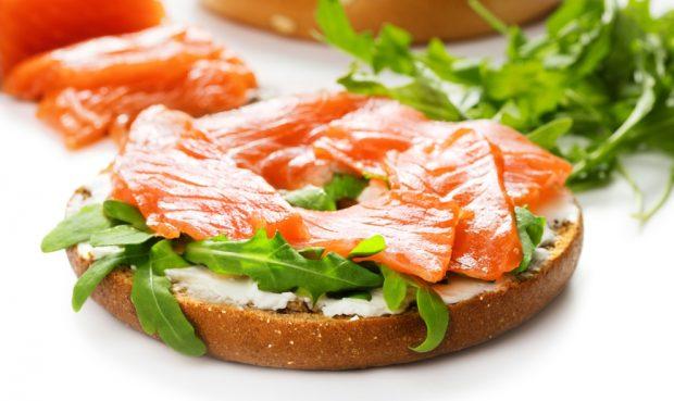 empanada de salmón y queso de cabra