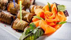 Receta de rosas de zanahoria y parmasano