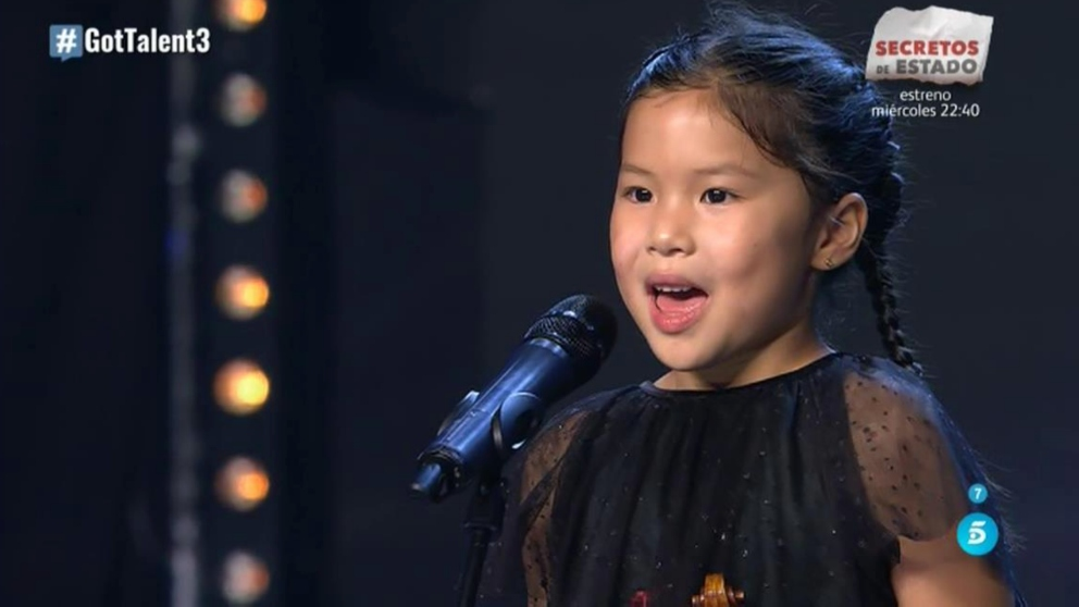 Youlan Lin es una auténtica virtuosa del violín y lo ha demostrado en 'Got Talent'.
