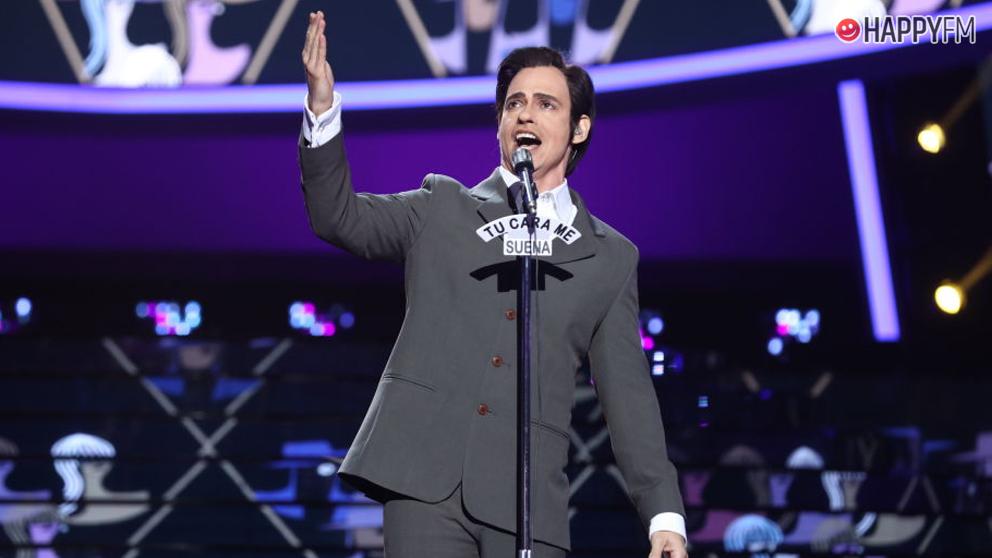 Carlos Baute imitó a Manolo Escobar en la final de 'Tu cara me suena'