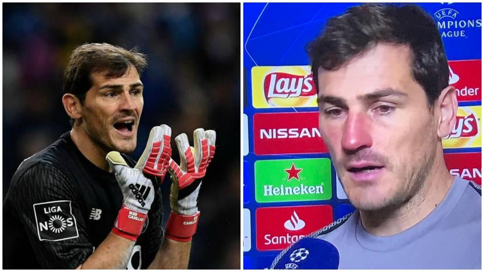 Iker Casillas, en un antes y un después de su parada en Roma.