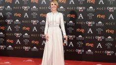 La actriz CAyetana Guillén Cuervo en la alfombra roja de los Premios Goya 2019. Foto: Europa Press