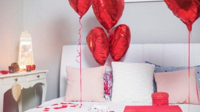 Decoraciones de cuartos para parejas con globos - Noche romantica en casa ideas ...