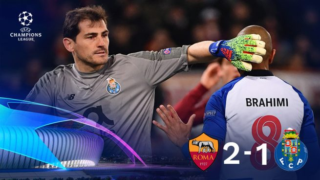 Casillas y Adrián mantienen vivo al Oporto ante la Roma (2-1)