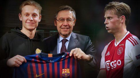 De Jong, ya fichado por el Barcelona, jugará contra el Real Madrid con el Ajax.