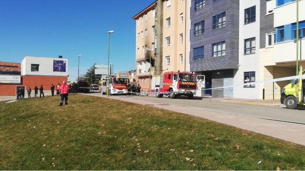 Lugar donde ha ocurrido la explosión de gas. Foto: Europa Press