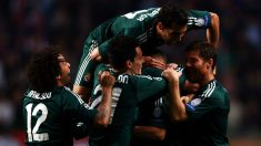 Los jugadores del Real Madrid celebran un gol contra el Ajax. (Getty)