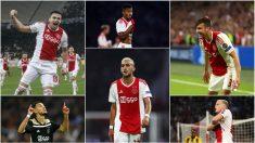 Los seis tapados del Ajax. (Getty)