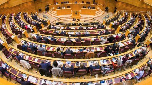 Pleno del Senado, cámara donde el Partido Popular es mayoritario