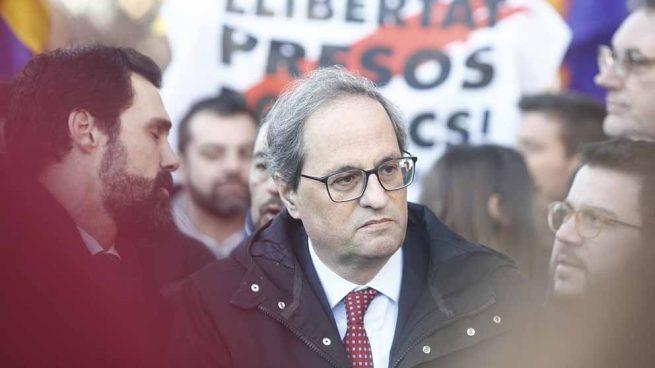 Torra jalea a los CDR para colapsar Cataluña mañana durante la huelga contra el juicio del 1-O