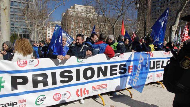 Manifestación de los funcionarios de prisiones. Foto: Francisco Toledo