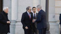 Torra, junto al jefe de protocolo de la Generalitat Carles Fabró, a las puertas del Supremo