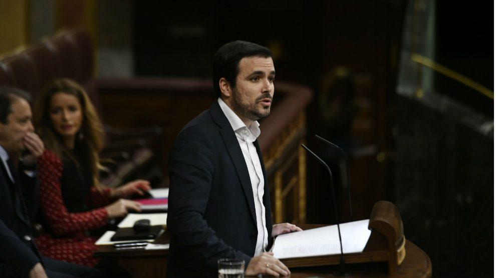 Alberto Garzón en el Congreso. Foto: Europa Press