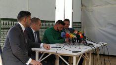David Serrano, dueño de la finca donde falleció el pequeño Julen en Totalán, durante una rueda de prensa. Foto: Europa Press