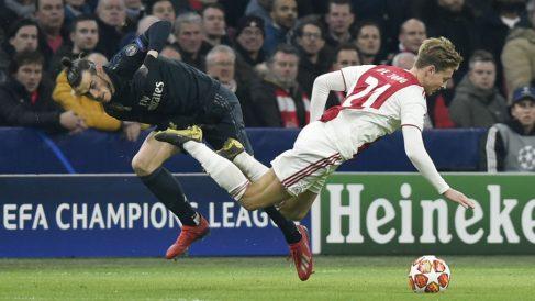 Gareth Bale, en el Ajax – Real Madrid (AFP)