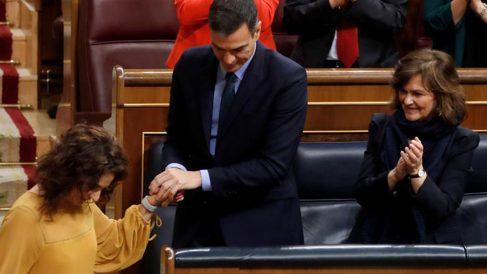 El presidente del Gobierno, Pedro Sánchez, justo antes de que el Congreso tumbara sus PGE para 2019. EFE