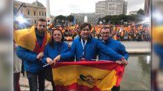 Agentes del SUP en la manifestación de Colón del 10-F