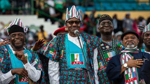 El presidente de Nigeria, Muhammadu Buhari, durante un mítin electoral. Foto: AFP