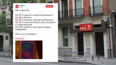 El 'tuit' publicado en la cuenta oficial del PSOE.