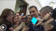 Pedro Sánchez abandona el Congreso tras la votación de los Presupuestos