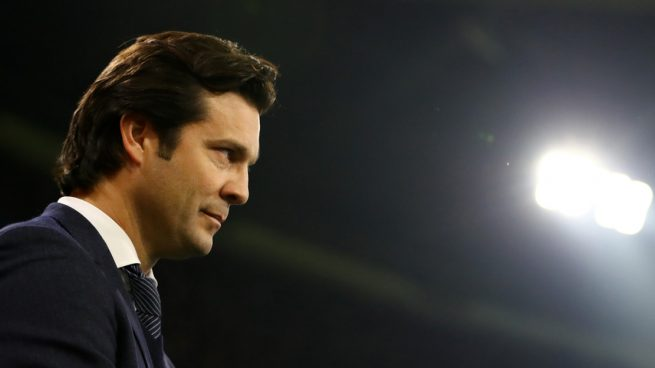 Solari, durante el Ajax - Real Madrid (Getty).