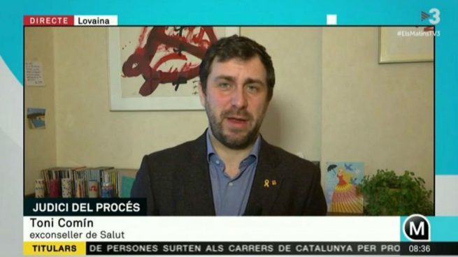 """Comín explica desde Bélgica que el juicio del procés servirá para preparar """"el recurso ante Estrasburgo"""""""
