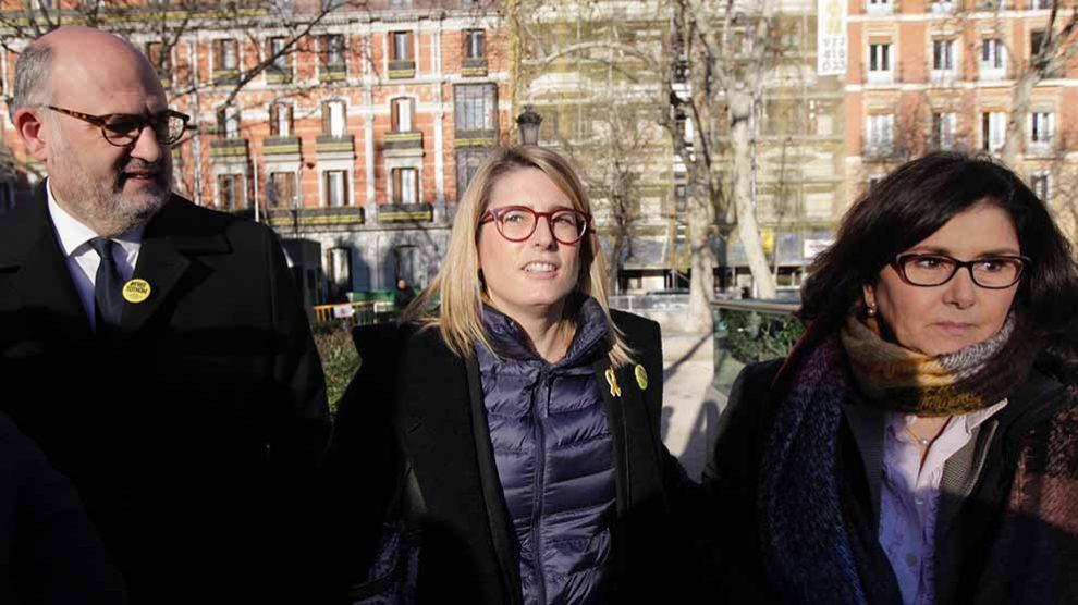 Elsa Artadi y Eduard Pujol entrando en el Tribunal Supremo. Foto: FRANCISCO TOLEDO