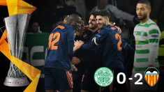 El Valencia se impuso 0-2 al Celtic en la Europa League.