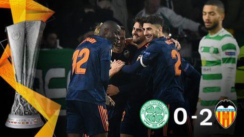 El Valencia se impuso 0-2 al Celtic en la Europa League.